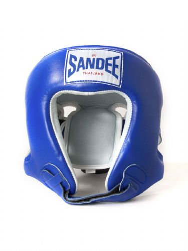 Sandee Kids Open Face Head Guard - Blue
